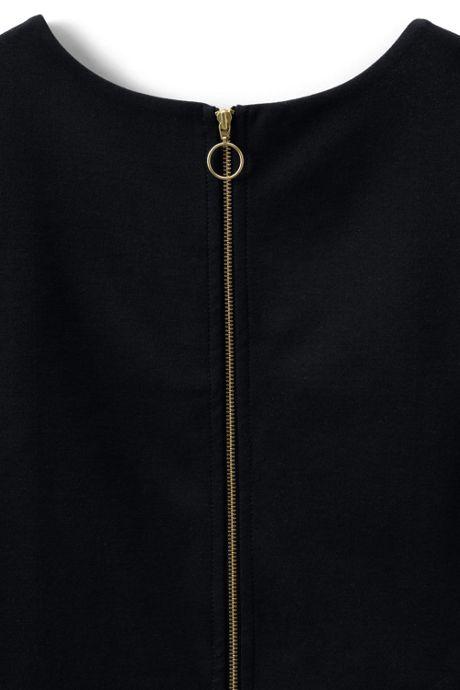 Women's Plus Size Short Sleeve Ponte Sheath Dress