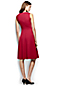 Women's Regular Sleeveless Embroidered Drapey Ponte Dress