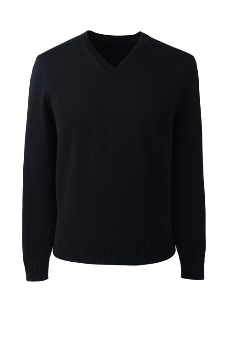Men's Basic Cotton V-neck Sweater