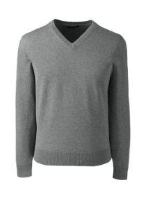 Men's Basic Cotton V-neck Sweater