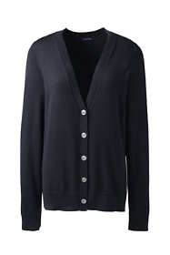 Women's Plus Size Basic Cotton V-neck Cardigan Sweater