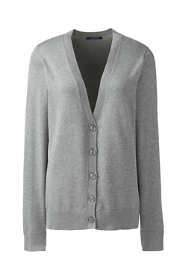 Women's Basic Cotton V-neck Cardigan Sweater