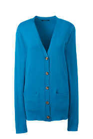 Women's Plus Performance Long Sleeve V-neck Cardigan with Pockets