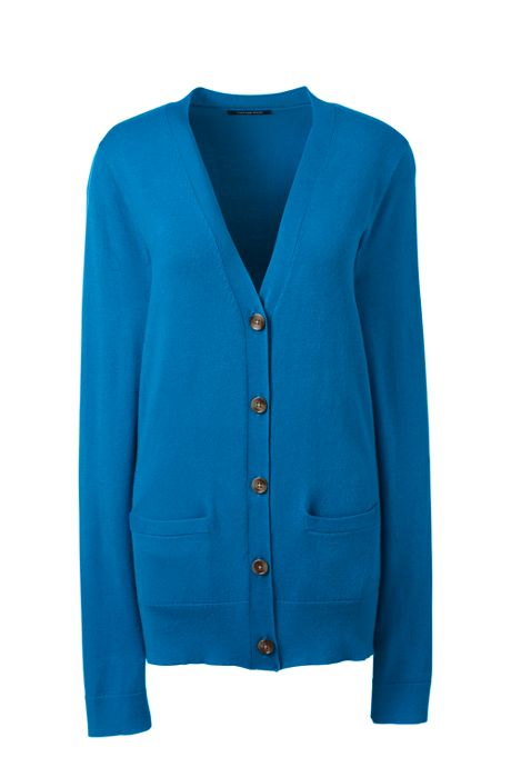 Women's Long Sleeve Performance Fine Gauge V-neck Cardigan Sweater with Pockets