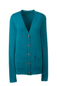 Women's Petite Performance V-neck Cardigan with Pockets