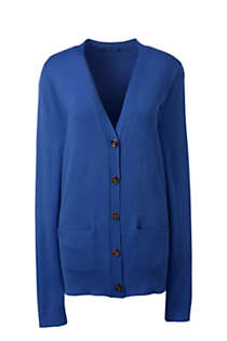 Women's Petite Performance V-neck Cardigan with Pockets, Front
