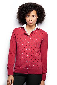 Women's Fine Gauge Supima® Sequin Cardigan
