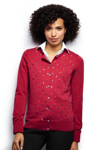 Women's Regular Fine Gauge Supima® Sequin Cardigan