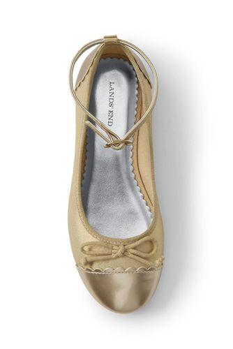 Girls' Ankle Strap Ballet Pumps