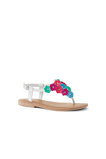 Girls' Flower Thong Sandals