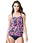 Women's Regular Beach Living Paisley Print Blouson Tankini Top