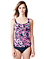 Women's Regular Paisley Scoop Neck Tankini Top
