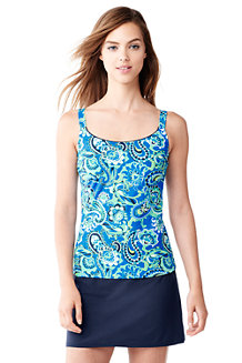 Women's Mastectomy Paisley Scoop Neck Tankini Top