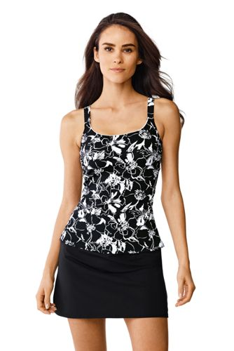 Women's Regular Floral Scoop Neck Tankini Top