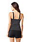 Women's Regular Dot Scoop Neck Tankini Top
