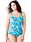 Women's Plus Tugless Soft Cup Paisley Swimsuit