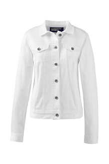 Women's Stain Repellent White Denim Jacket