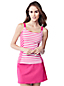 Women's Regular Bias Cut Striped Scoop Neck Tankini Top