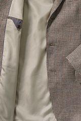 Linen Baird Mcnutt Sport Coat 467958: Khaki Multi Houndstooth