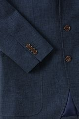 Linen Cotton Sport Coat 467962: Navy