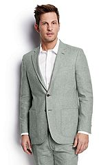 Linen Cotton Sport Coat 467962: Green