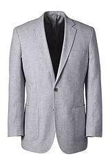 Linen Cotton Sport Coat 467962: Light Grey