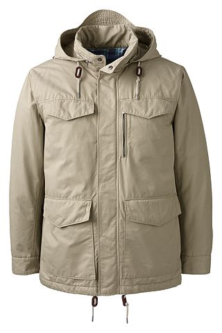 Insulated Travel Parka 467967: Tan Pebble
