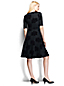 Women's Regular Ponte Jersey Damask Boatneck Dress