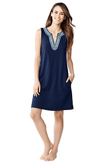 Women's Embroidered Sleeveless Tunic Cover-Up