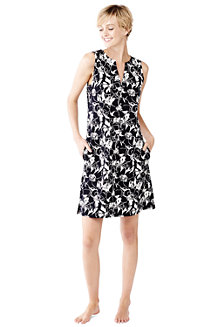 Women's Floral Sleeveless Tunic Cover-Up