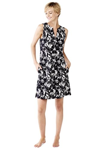 Women's Regular Floral Sleeveless Tunic Cover-Up