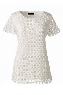 Baumwoll/Viskose-Spitzenshirt
