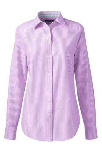 Women's Regular Patterned Washed Oxford Cotton Shirt