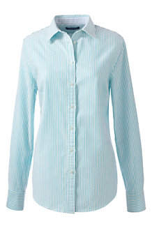 Women's Patterned Washed Oxford Cotton Shirt