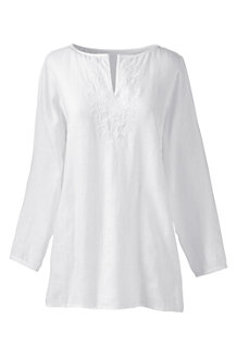 Women's Embroidered Linen Tunic