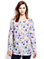Women's Regular Long Sleeve Collarless Patterned Linen Tunic
