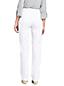 Women's Petite White High Waisted Jeans Straight Leg