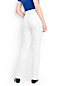 Women's White High Waisted Jeans, Straight Leg