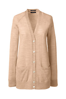 Women's V-neck Merino Cardigan