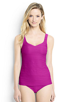 Women's Textured Sweetheart Tankini Top