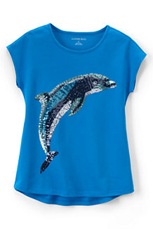 Girls' Embellished Dolman Short Sleeve Graphic Tee