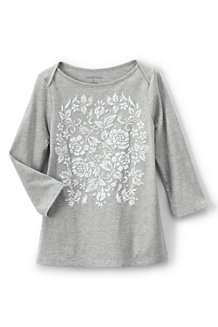 Girls' Boatneck Graphic Tee