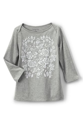 Little Girls' Boatneck Graphic Tee