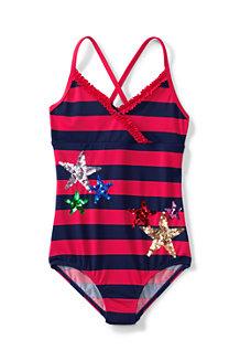 KÜSTENKURS Badeanzug mit Rüschen für Mädchen