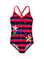 Little Girls' Coastal Spirit Stars & Stripes Ruffle Swimsuit