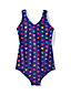 Little Girls' Smart Swim Patterned Swimsuit