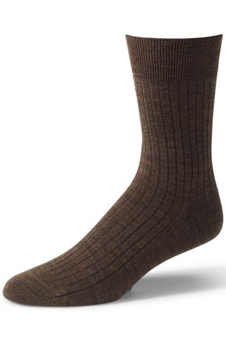 Men's Seamless Toe Wool Rib Dress Socks (2-pack)