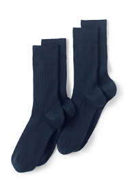 Men's Seamless Toe Wool Rib Dress Socks (2-pack)