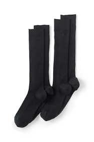 Men's Seamless Toe Over The Calf Wool Rib Dress Socks (2-pack)