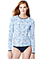 Women's Regular Geo Print Rash Guard Swim Tee